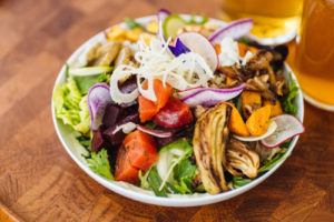 Sugarpine Salad with winter roasted vegetables