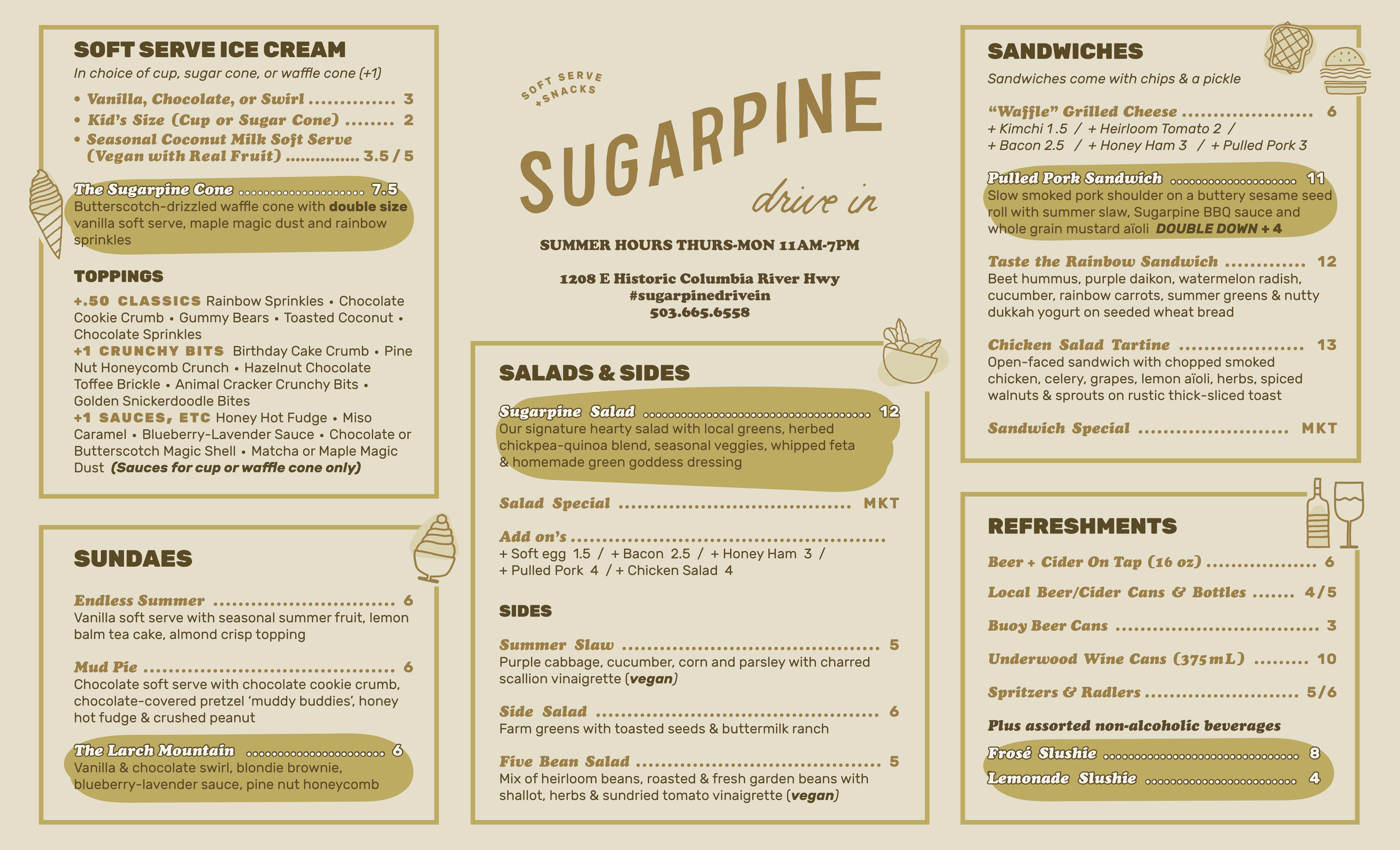 Sugarpine Menu V2 7.13.19