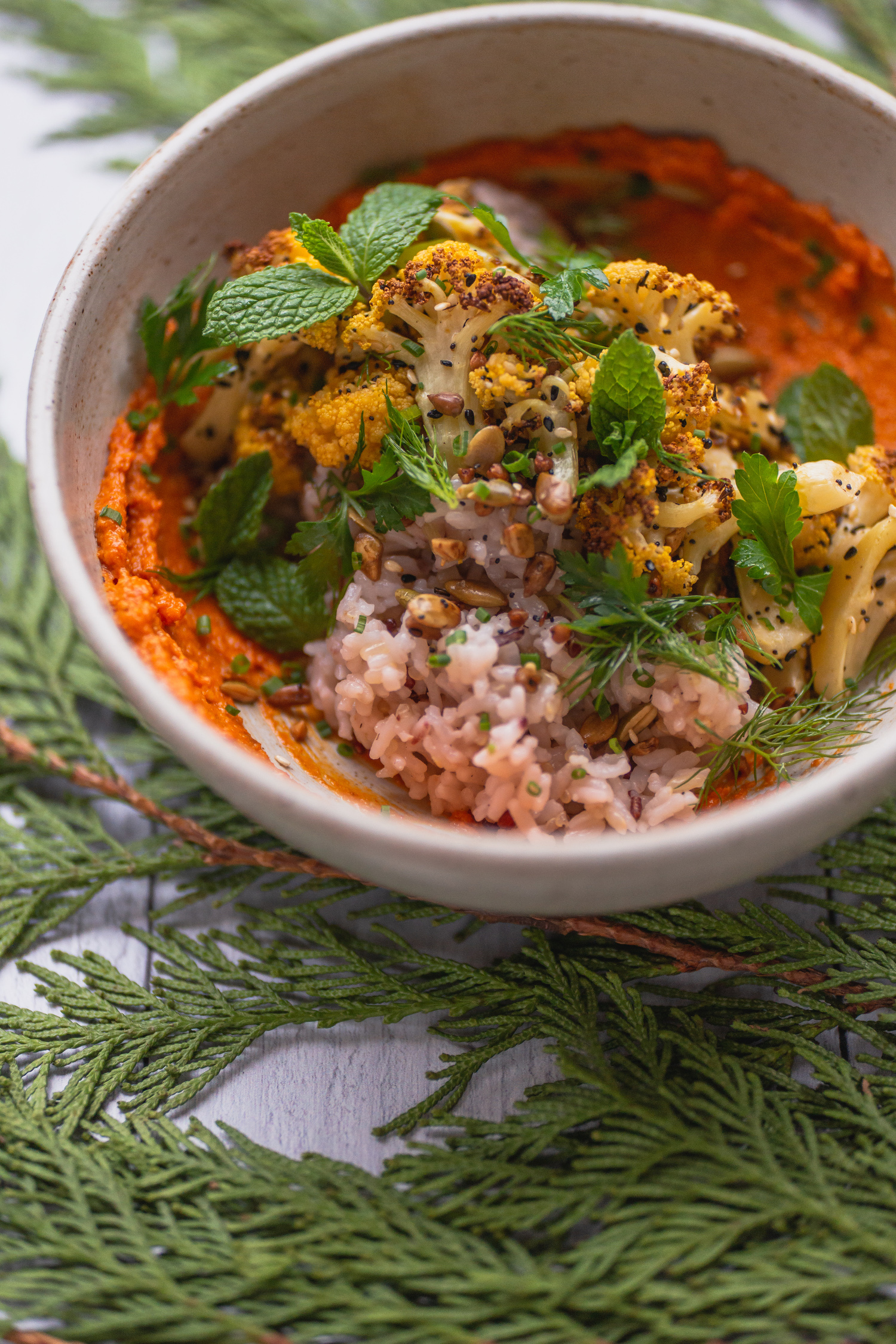 Cauli-Carrot-Rice Side