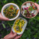 Salad sides: Autumn Slaw, Kale Side Salad, and Squash and Couscous Pilaf