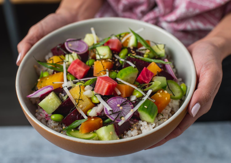 Veggie Poke Rice Bowl